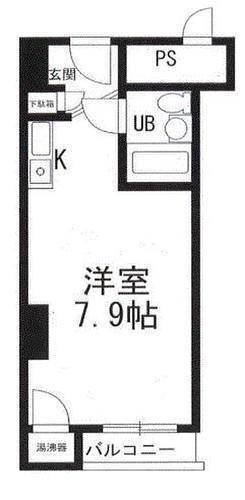日本东京都中央区明石町 物业类型:总户数146户的高级公寓 户型:1室 1