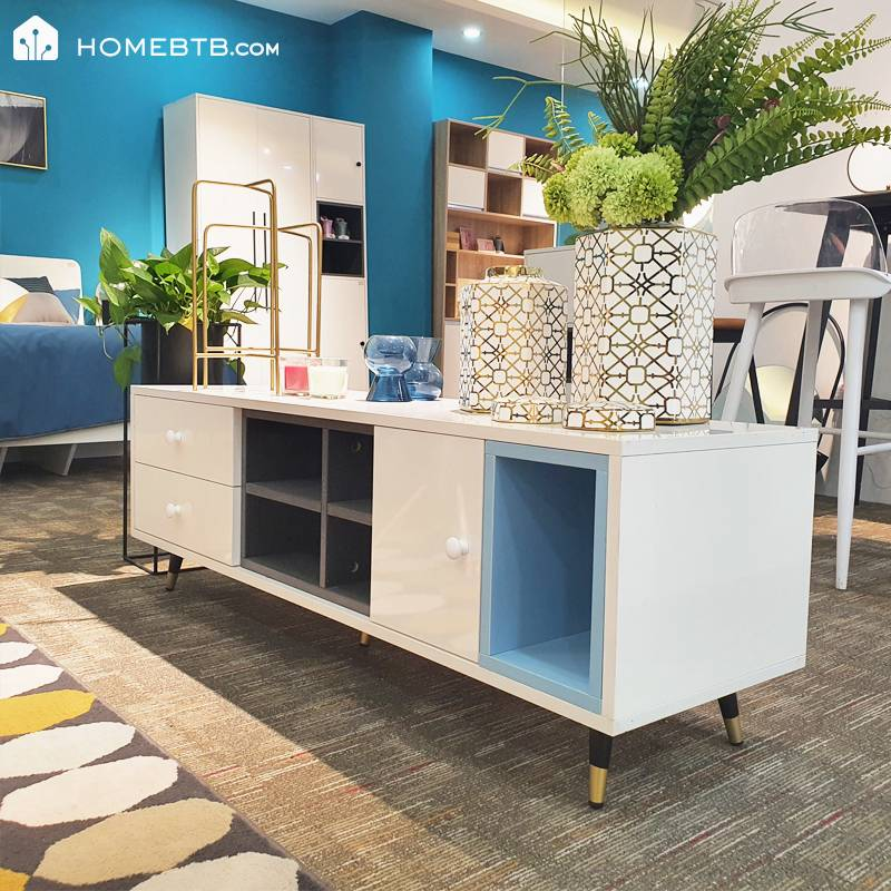 Fashion White TV Cabinet