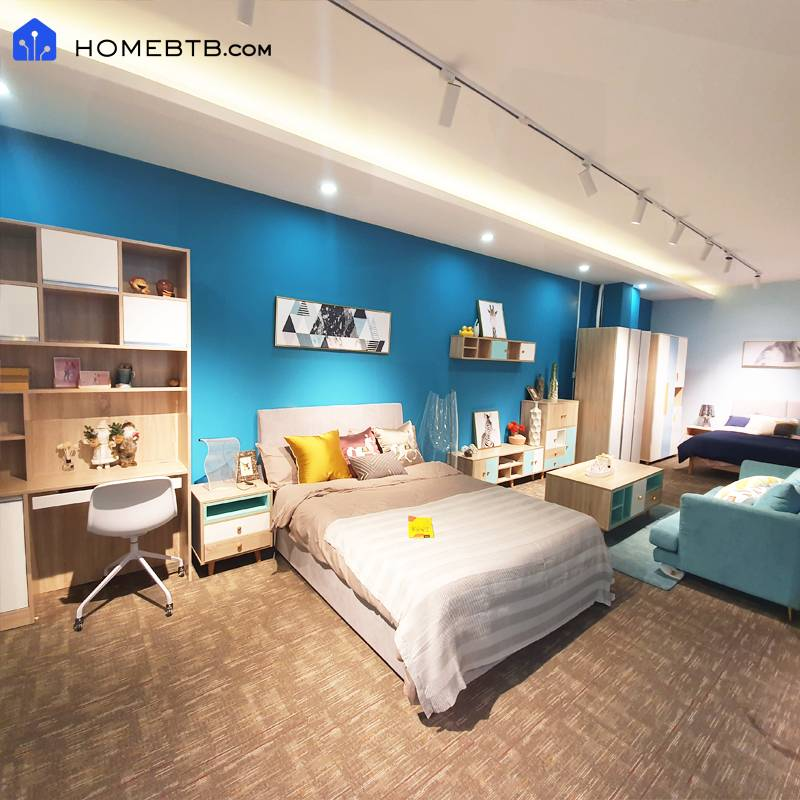 Nordic Minimalist Style Double Bed