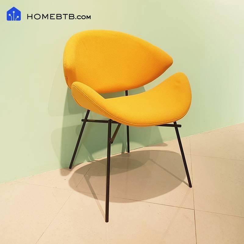 HomeJI Nordic Modern Linen Lounge Chair