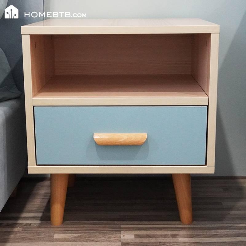 Modern Simple Wooden Bedside Table