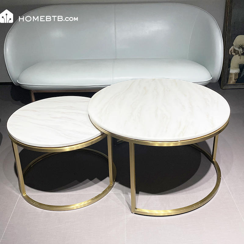 Artificial Marble Stainless Steel Coffee TableproductInfoLeftImg