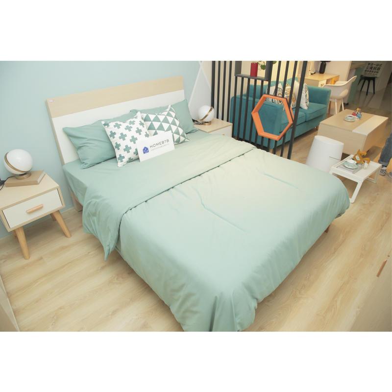 Fashion White & Wood BedproductInfoLeftImg