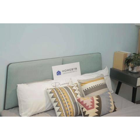 Modern Minimalist Bed Light Blue