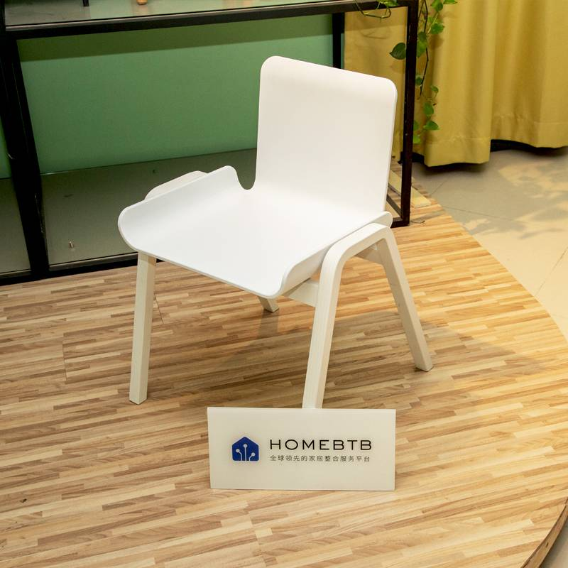 Creative and simple wrought iron plastic dining chair