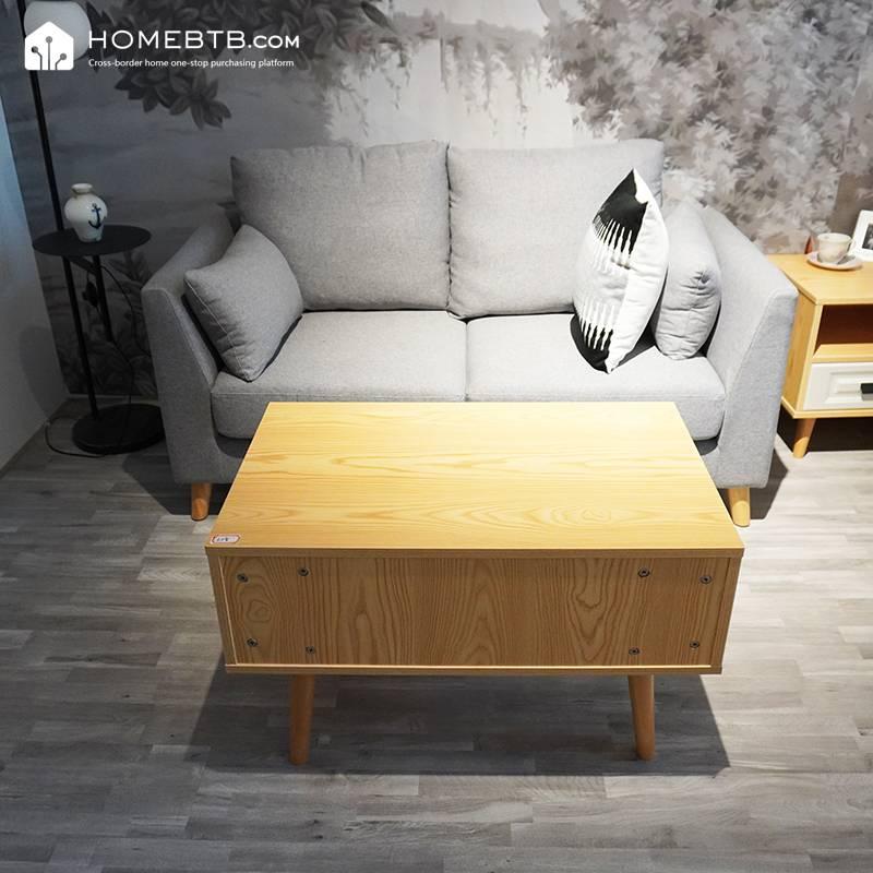 Modern Simple Nordic Fabric Double Sofa