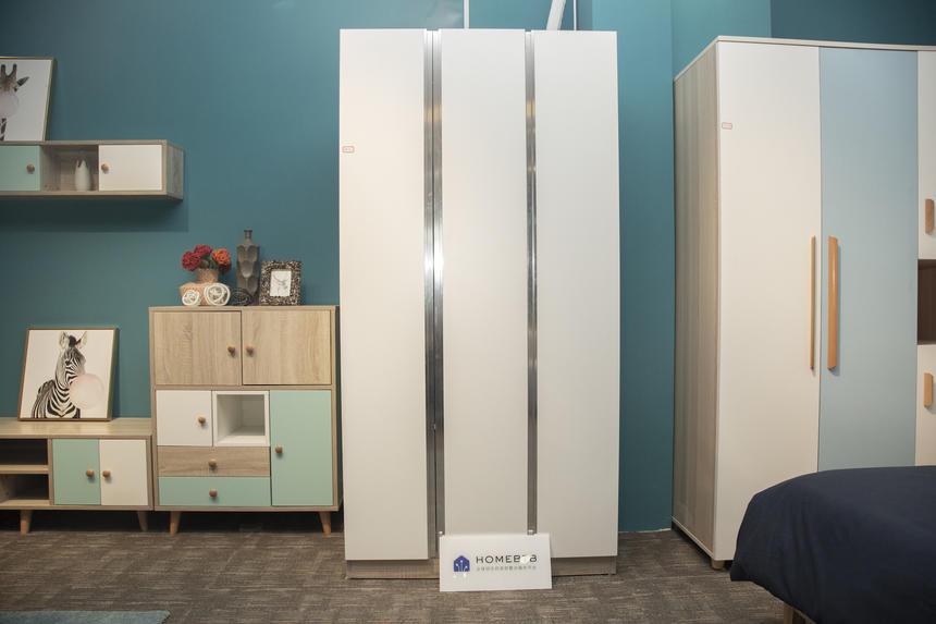 3-door Wardrobe White MetallicproductInfoLeftImg