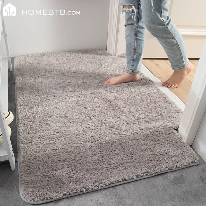 Fluffy non-slip bathroom carpet