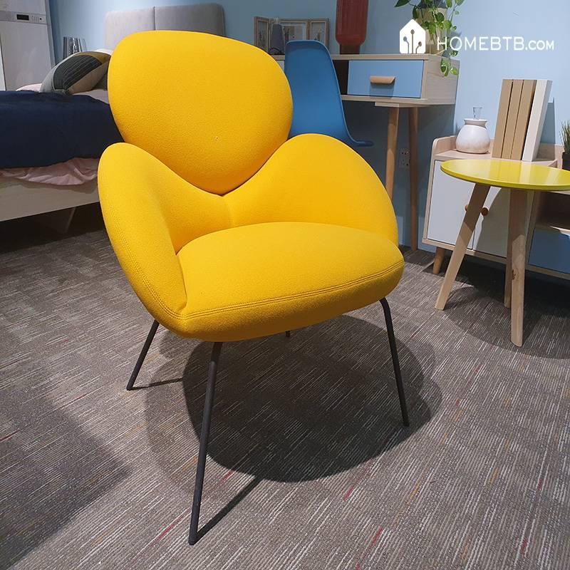 Yellow Simple Single Sofa Chair