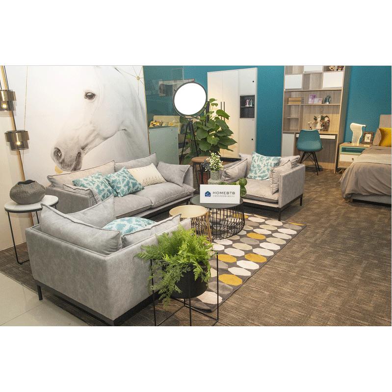 Combination Cotton Linen Light Grey Sofa