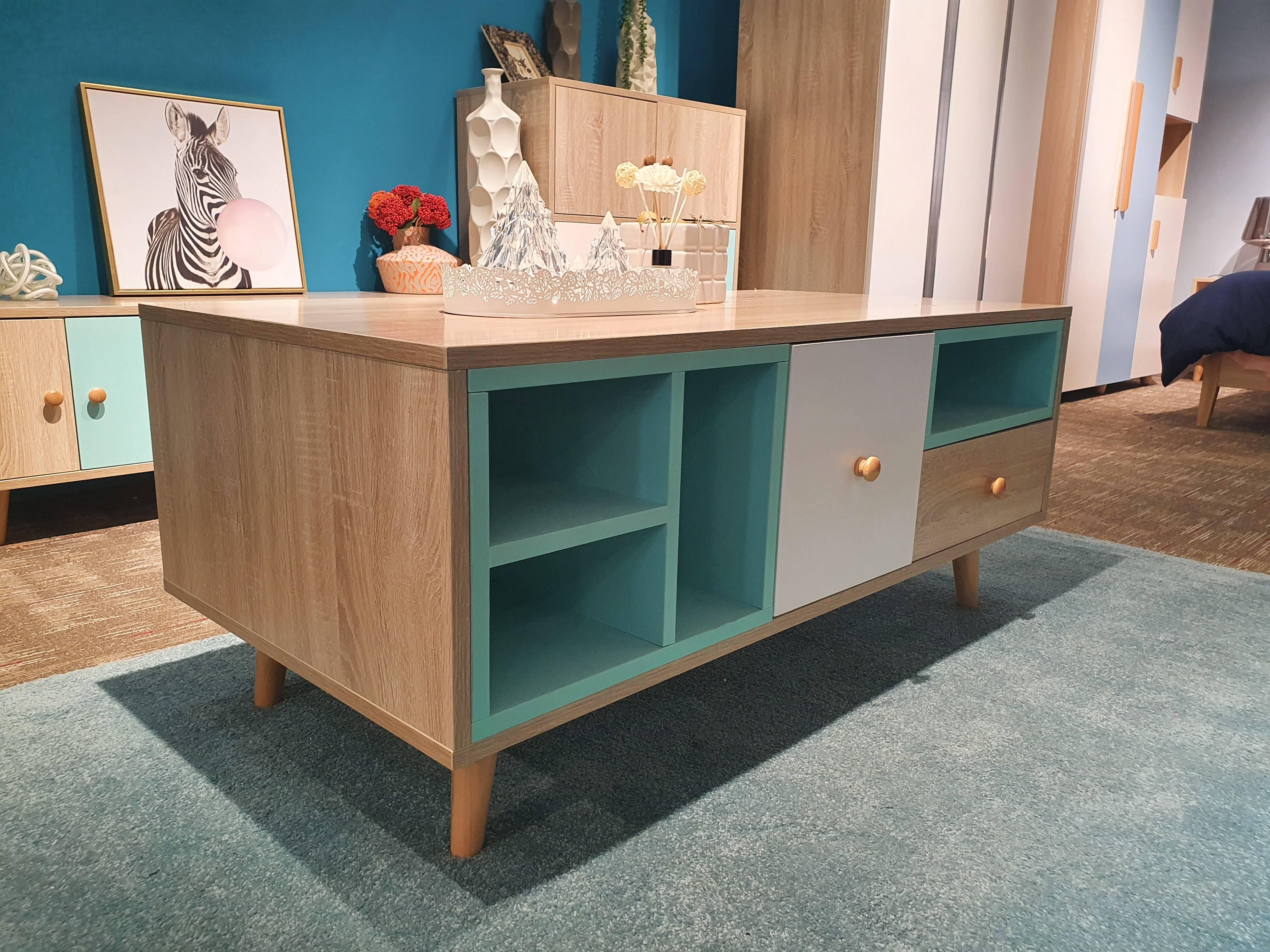 Green Modern Minimalist TV Cabinet