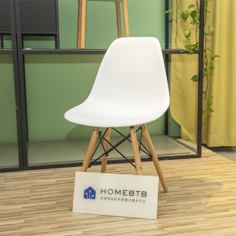 Creative simple solid wood plastic dining ChairproductInfoLeftImg