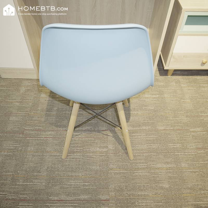 Modern Simple Plastic And Solid Nordic Wood Chair