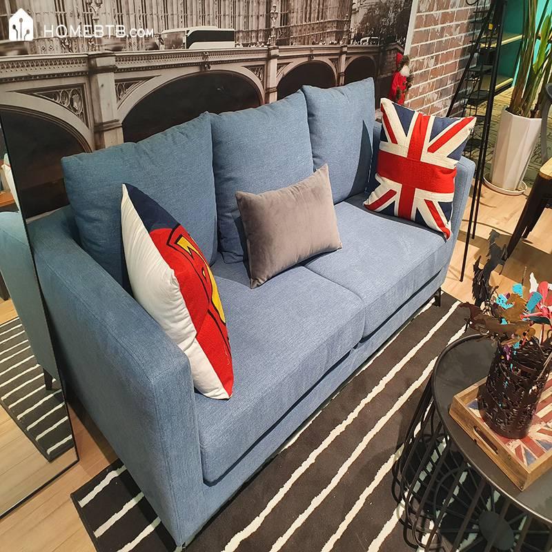 Blue Bordic Style Sofa