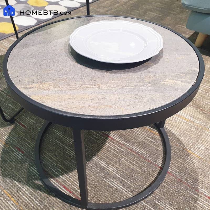 Nordic Minimalist Marble Surface Small Coffee Table