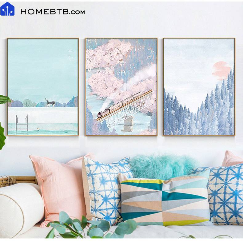 Nordic Style Light Luxury Hanging Paintings