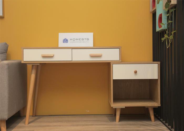 Desk and Cabinet Combination Wood & WhiteproductInfoLeftImg