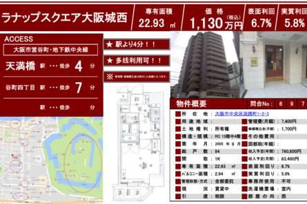 大阪市·【总价约68万元人民币!大阪市中央区收益公寓!】